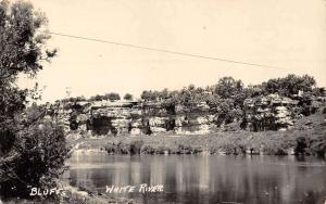 White River Arkansas Bluffs Scenic Real Photo Antique Postcard K35251