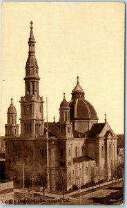 Sacramento CA Postcard Cathedral of the Blessed Sacrament, SEPIA c1910s Unused