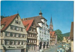 Germany, Calw im Schwarzwald, Marktplatz, 1960s dated, unused Postcard
