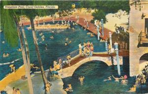 Coral Gables Florida~Venetian Pool~1949 Postcard