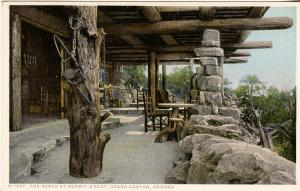 AZ - Grand Canyon National Park. Hermit's Rest, The Porch (Fred Harvey)