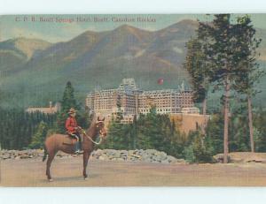Linen TOWN VIEW SCENE Banff Alberta AB o1065