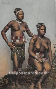Zulu Girls African Nude Unused