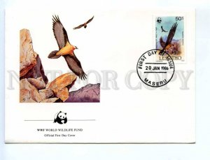 d417030 LESOTHO 1986 year WWF Bird Eagle Drummond First Day COVER