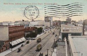 Canada Manitoba Winnipeg Trolleys On Main Street Looking North sk3078