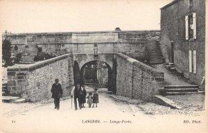 FR30 Langres, Haute Marne, France, Longe-Porte, Vintage Postcard.