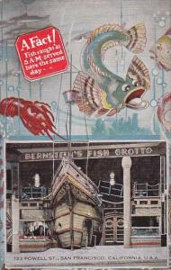 Bernstein's Fish Grotto Restaurant San Francisco California