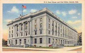 U.S. Court House and Post Office, Lincoln, Nebraska, Early Postcard, Unused