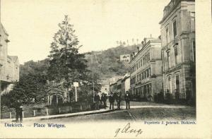luxemburg, DIEKIRCH, Place Wirtgen (1899) Postcard