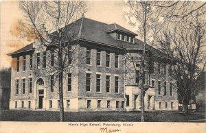 F47/ Petersburg Illinois Postcard c1910 Harris High School Building