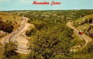Oklahoma Horseshoe Curve On U S Highway 77 South Of Davis Near Turner Falls