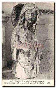 Postcard Old Vezelay Basilica of the Virgin Madeleine