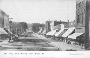 Seneca Illinois Main Street Looking North Vintage Postcard JI658445