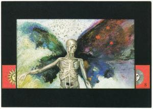 The Ceremony of Innocence by Nick Bantock Alchemy Collage Art Postcard