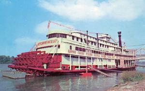 KY - Owensboro. Sternwheeler River Steamboat, now a floating restaurant on th...