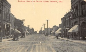 LP52 Hudson  Wisconsin Vintage Postcard Second St