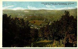 New York Catskills Pine Hill View From Piazza Of Grovesmont Cottage