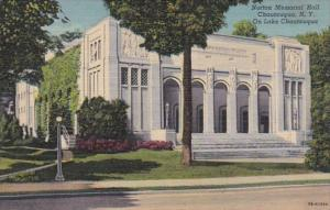New York Chautauqua Norton Memorial Hall On Chautauqua Lake Curteich