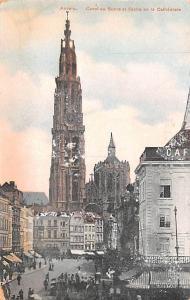 Anvers Belgium, Belgique, Belgie, Belgien Canal au Sucre et Fieche de la Cath...