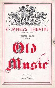 Old Music Margaret Hood Marjorie Fielding St James Musical Theatre Programme
