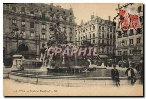 Postcard Old Lyon Fontaine Bartholdi