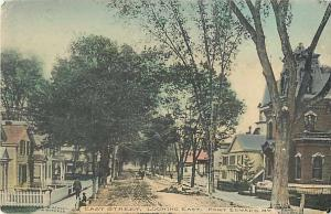 East Street Looking East Port Edward NY New York 1909 Hand Colored D/B