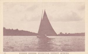 Sailboat , Evening Breezes , HUNTSVILLE , Ontario , Canada , 20-40s