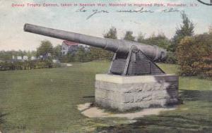 Dewey Trophy Cannon - Highland Park NY, Rochester, New York - pm 1910 - DB