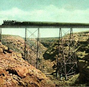 Canyon Diablo AZ Arizona Fred Harvey Dodge City & Trin UNP 1910s Postcard