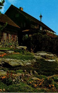 Vermont Stowe The Trapp Family Lodge Rock Garden In The Spring