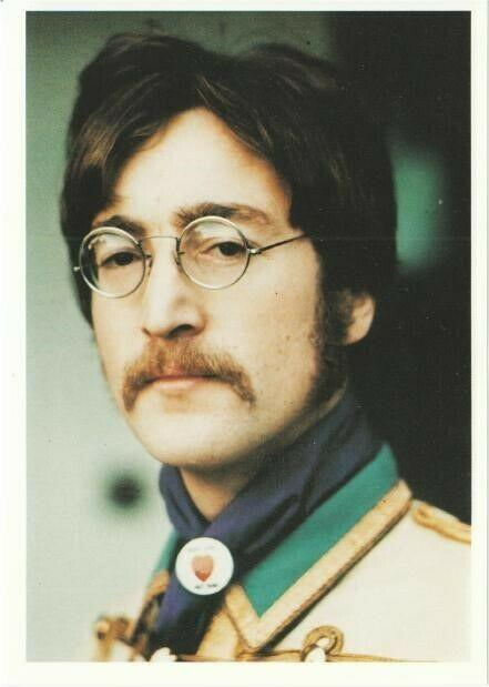 John Lennon In 1967 With Mustache The Beatles Modern Postcard Hippostcard