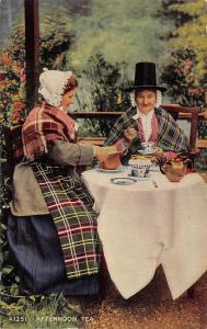 BR64272 afternoon tea  types folklore costumes wales
