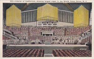 New JerseyOcean Grove Interior Of Auditorium Showing Largest Organ In The World