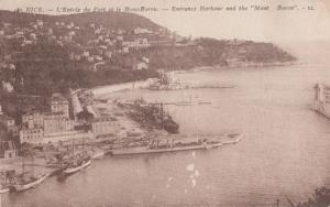 Mont Boron Nice Harbour Ships Antique French Postcard
