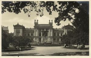 sweden, LUND, Universitetet, University (1920s) RPPC