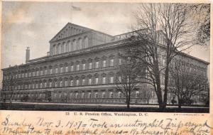 WASHINGTON DC UNITED STATES PENSION OFFICE UDB POSTCARD c1907