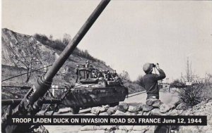 Troop Laden Duck On Invasion Road South France June 12 1944 Real Photo