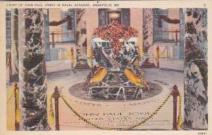 Maryland Annapolis U S Naval Academy Crypt Of John Paul Jones