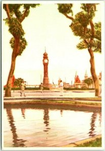 BELEM, Brazil Postcard Praca do Relogio Clock Tower Square View - Unused
