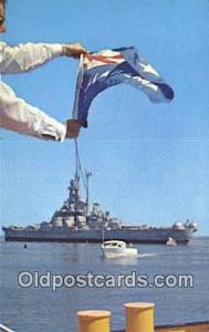 USS Alabama Military Battleship Postcard Post Card Old Vintage Antique Milita...