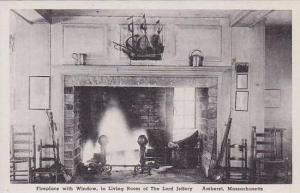 Massachusetts Amherst The Lord Jeffery Fireplace With Window In Living Room A...