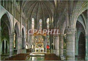 Postcard Modern Roncesvalles (Navarra) Interior de la Iglesia Estilo Gotico S...