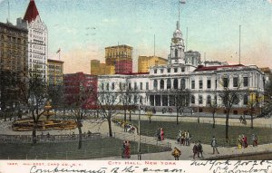 City Hall, New York City, Early Postcard, Used in 1905, Illustrated Post Card Co