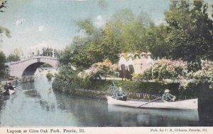 Illinois Peoria Canoeing In Lagoon Glen Oak Park