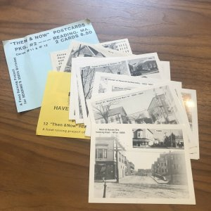 LOT OF 14 - READING MA - RPPC - STREET SCENE HISTORIC  Massachusetts POSTCARD