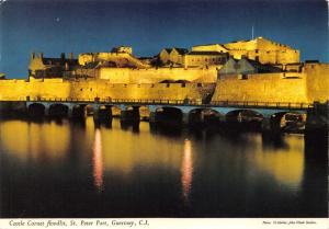 Guernsey Postcard, 1978 Castle Cornet Floodlit, St Peter Port by John Hinde P4