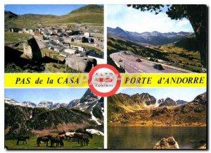Postcard Modern Valls d'Andorra Pas de la Casa bridge envalira