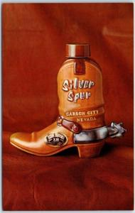 Vintage Carson City, Nevada Postcard SILVER SPUR Casino Extra Brooks Bottle 1960