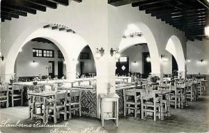 RPPC of Dining Area of Sanborns Restaurant ,Monterrey, Mexico