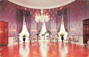 Postcard Blue Room White House Washington DC